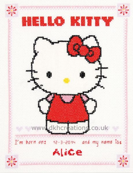 Hello Kitty Birth Sampler Cross Stitch Kit